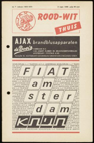 Programmaboekjes (vanaf 1934) 1969-09-21