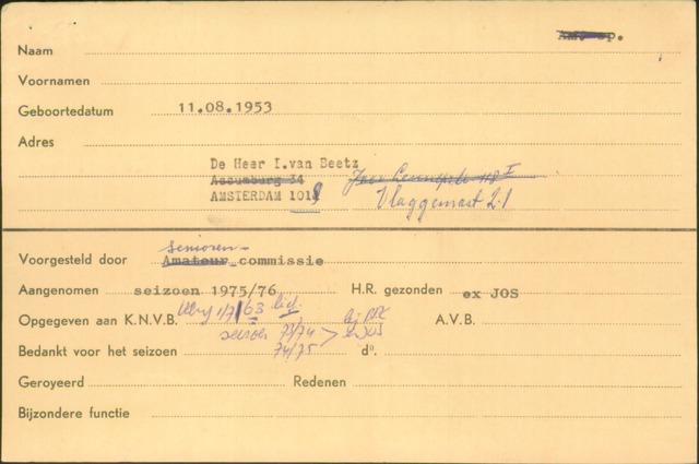 Ledenkaarten (1911-1989) 1975-07-01