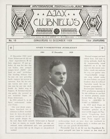 Clubnieuws Ajax (vanaf 1916) 1930-03-01
