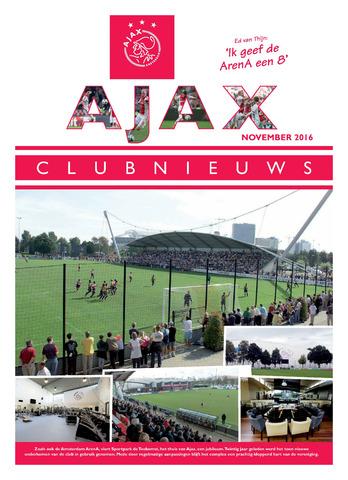 Clubnieuws Ajax (vanaf 1916) 2016-11-01