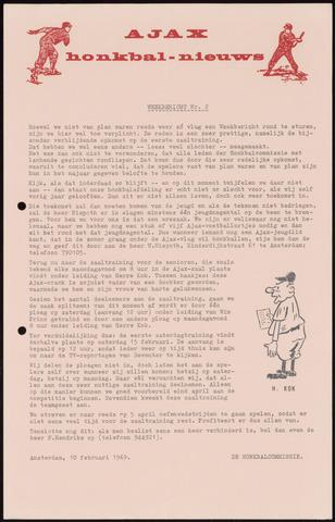 Honkbal nieuws (1963-1972) 1969-02-10