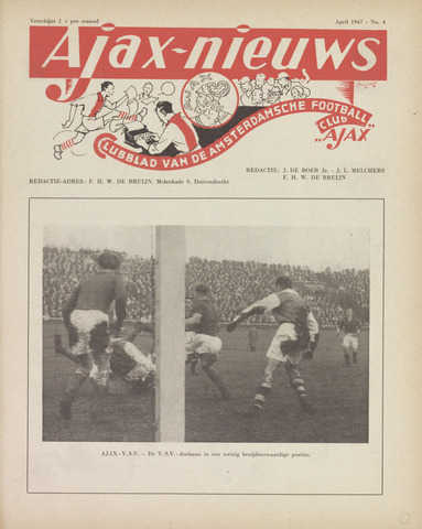Clubnieuws Ajax (vanaf 1916) 1947-04-01