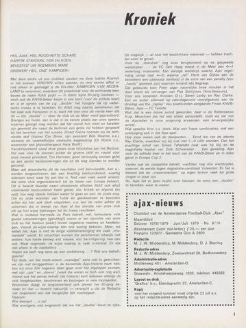 Clubnieuws Ajax (vanaf 1916) 1979-06-01