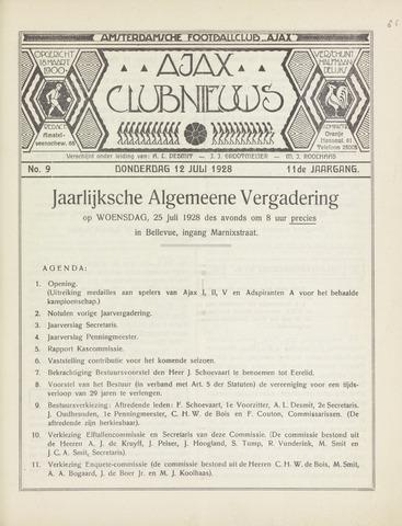 Clubnieuws Ajax (vanaf 1916) 1928-07-12