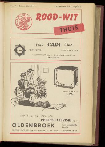 Programmaboekjes (vanaf 1934) 1960-09-18