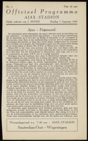 Programmaboekjes (vanaf 1934) 1945-08-05