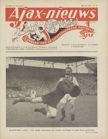 Clubnieuws Ajax (vanaf 1916) 1950-05-01