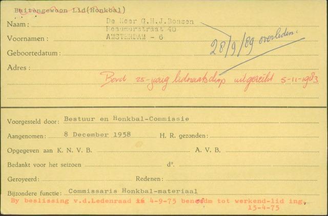 Ledenkaarten (1911-1989) 1958