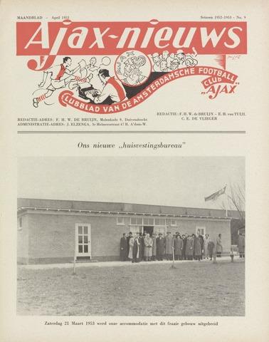 Clubnieuws Ajax (vanaf 1916) 1953-04-01