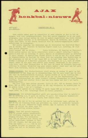 Honkbal nieuws (1963-1972) 1967-04-03