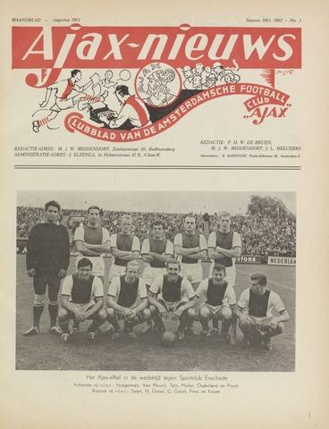 Clubnieuws Ajax (vanaf 1916) 1961-08-01