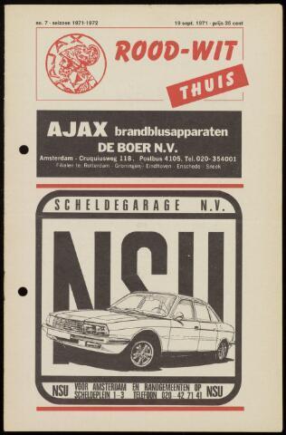 Programmaboekjes (vanaf 1934) 1971-09-19