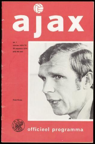 Programmaboekjes (vanaf 1934) 1974-08-25