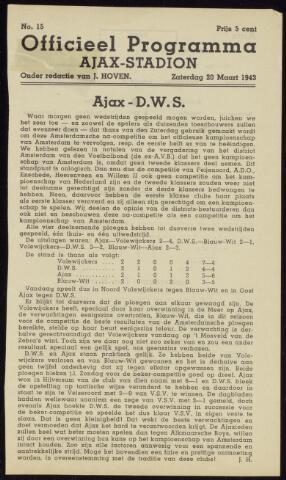 Programmaboekjes (vanaf 1934) 1943-03-20