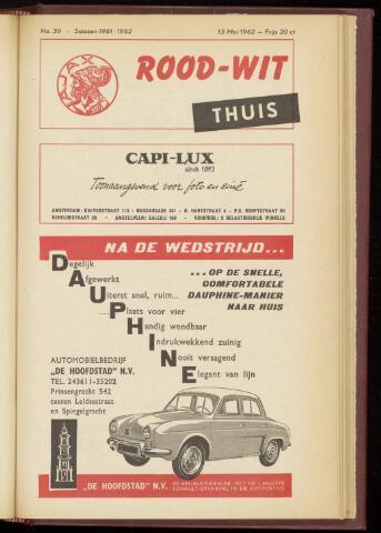 Programmaboekjes (vanaf 1934) 1962-05-13