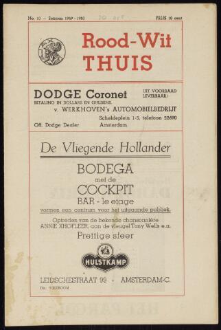 Programmaboekjes (vanaf 1934) 1949-10-30