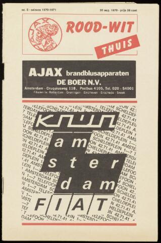 Programmaboekjes (vanaf 1934) 1970-08-30