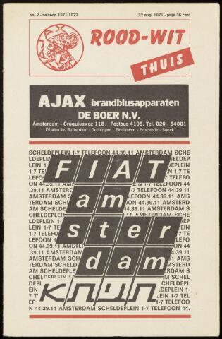 Programmaboekjes (vanaf 1934) 1971-08-22