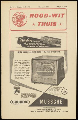Programmaboekjes (vanaf 1934) 1958-02-09
