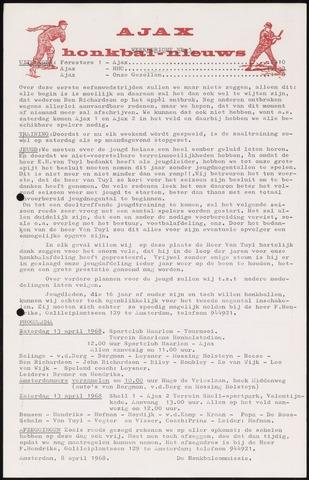 Honkbal nieuws (1963-1972) 1968-04-08