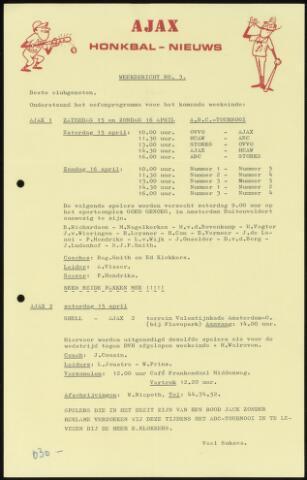 Honkbal nieuws (1963-1972) 1972-04-15