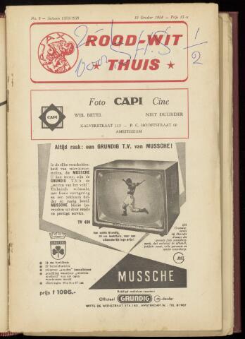 Programmaboekjes (vanaf 1934) 1958-10-19