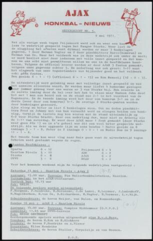 Honkbal nieuws (1963-1972) 1971-05-09