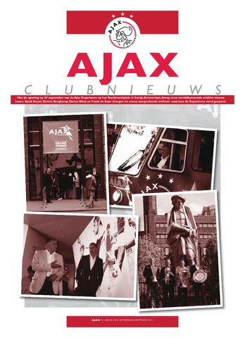 Clubnieuws Ajax (vanaf 1916) 2011-09-01