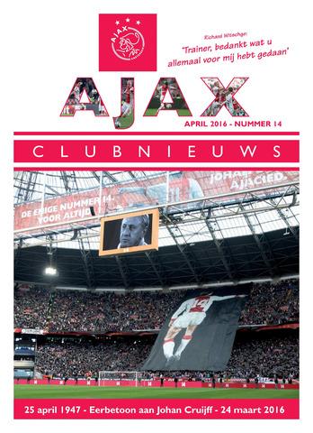 Clubnieuws Ajax (vanaf 1916) 2016-04-01