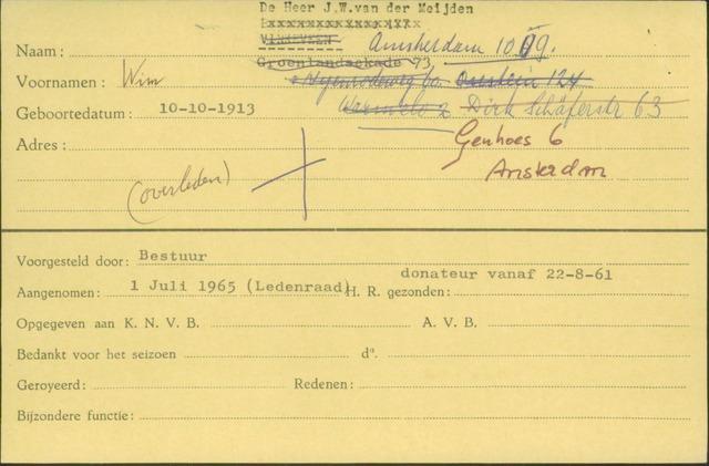 Ledenkaarten (1911-1989) 1965