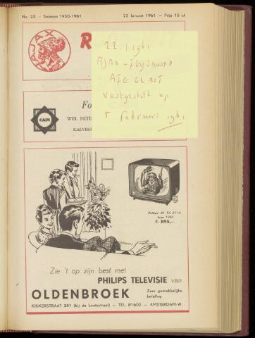 Programmaboekjes (vanaf 1934) 1961-01-22