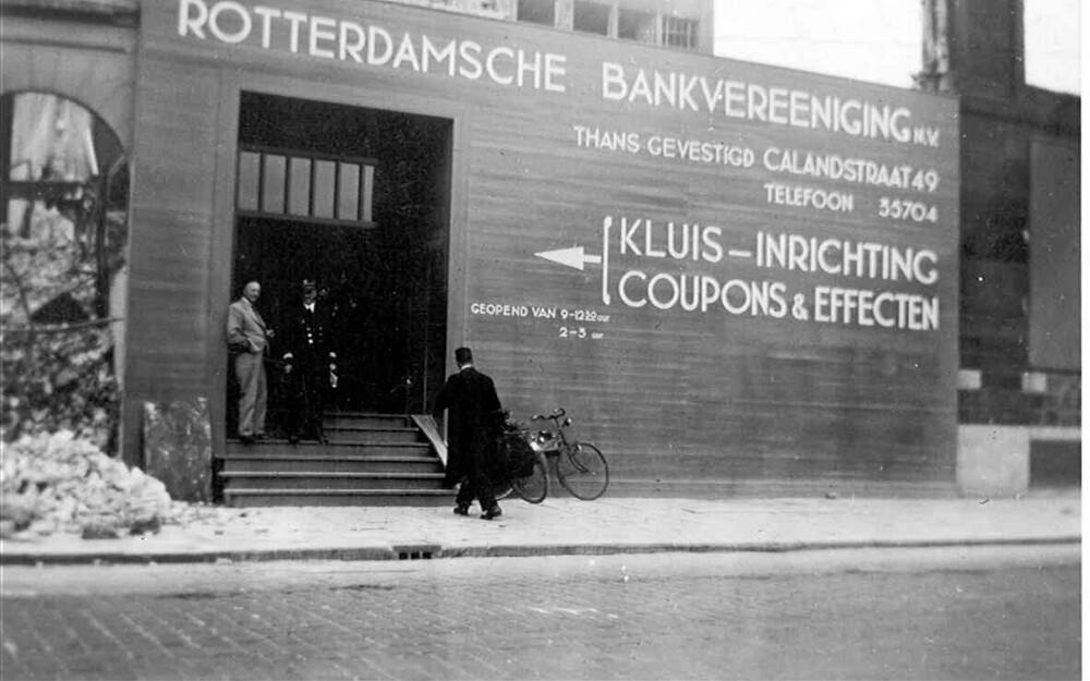 Rotterdam, Boompjes 77: kluisopenstelling na bombardement van mei 1940, Tweede Wereldoorlog
