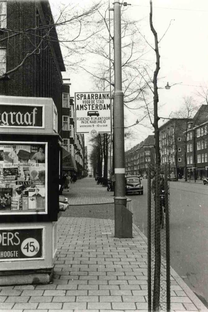 Uithangbord van de Spaarbank voor de Stad Amsterdam.