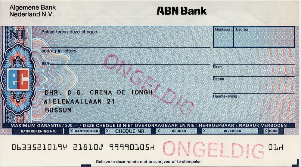Eurocheque Algemene Bank Nederland