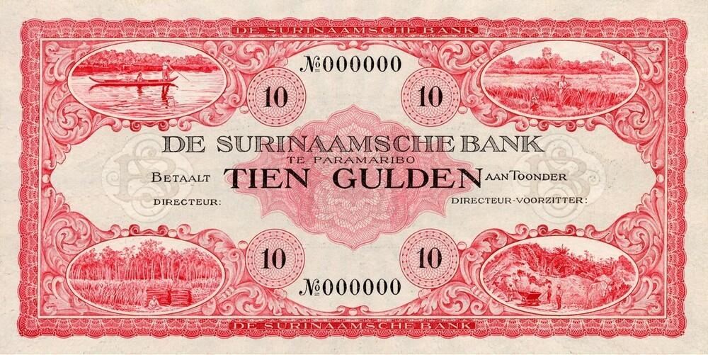 Surinaamsche Bank: 10 Gulden