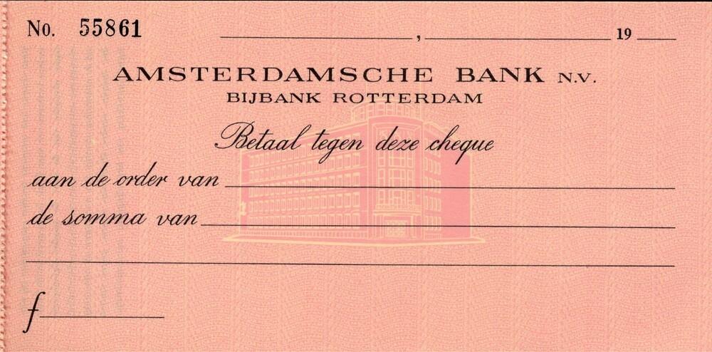 Cheque Amsterdamsche Bank