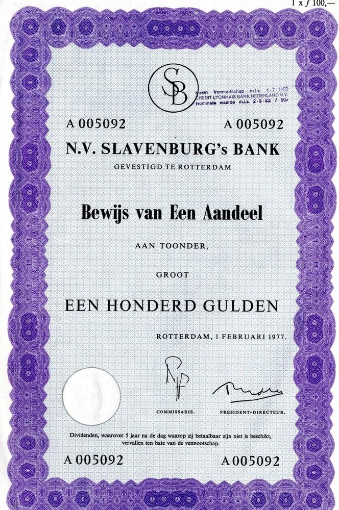 N.V. Slavenburg's Bank te Rotterdam