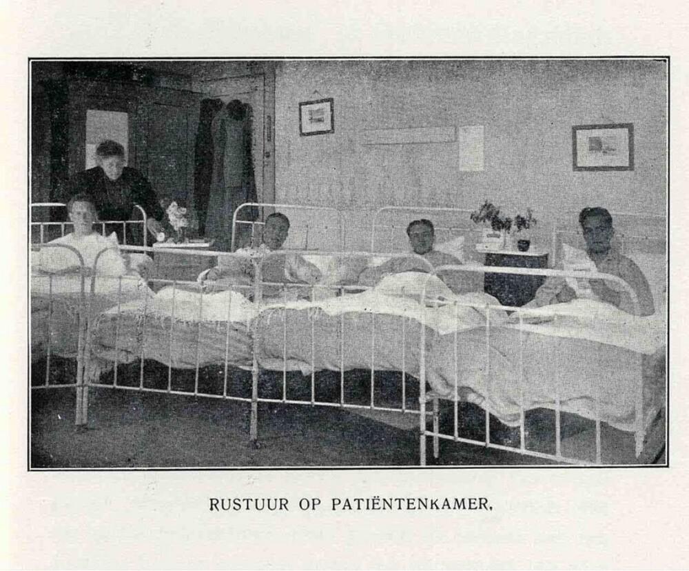 Vakantieoord Erica, Ericaweg, Nunspeet: Rustuur op patiëntenkamer
