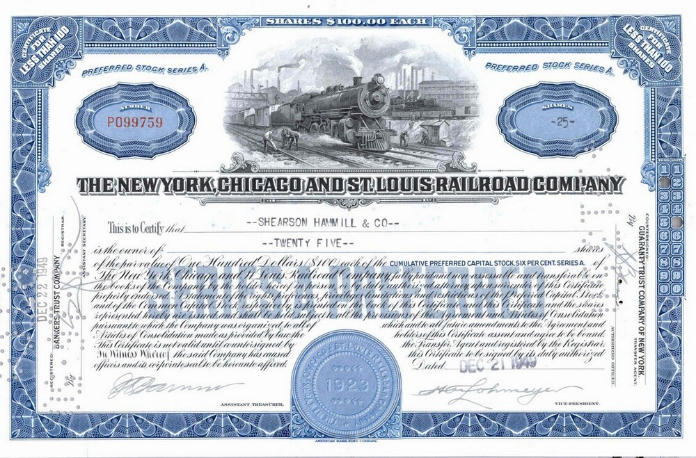 The New York, Chicago and St. Louis Railroad Company