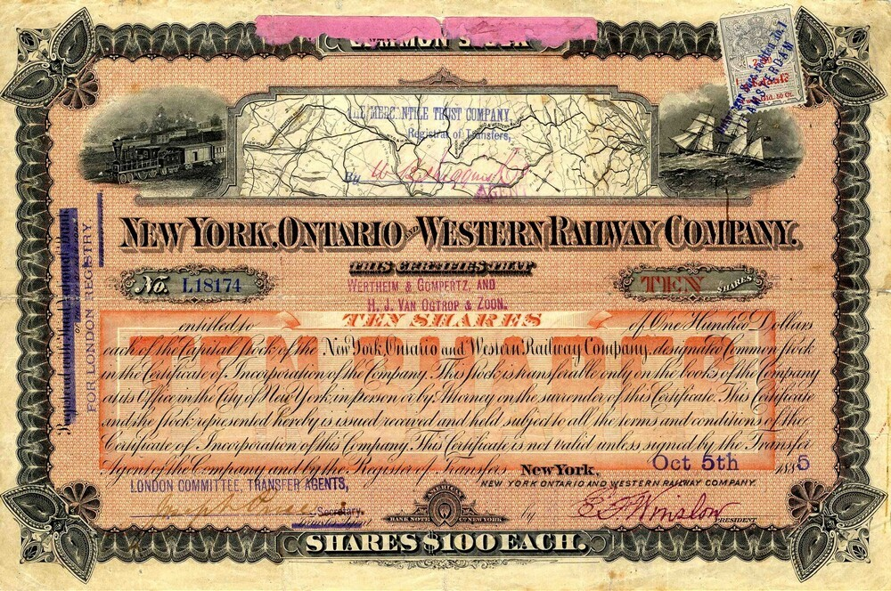 New York Ontario and Western Railway Company