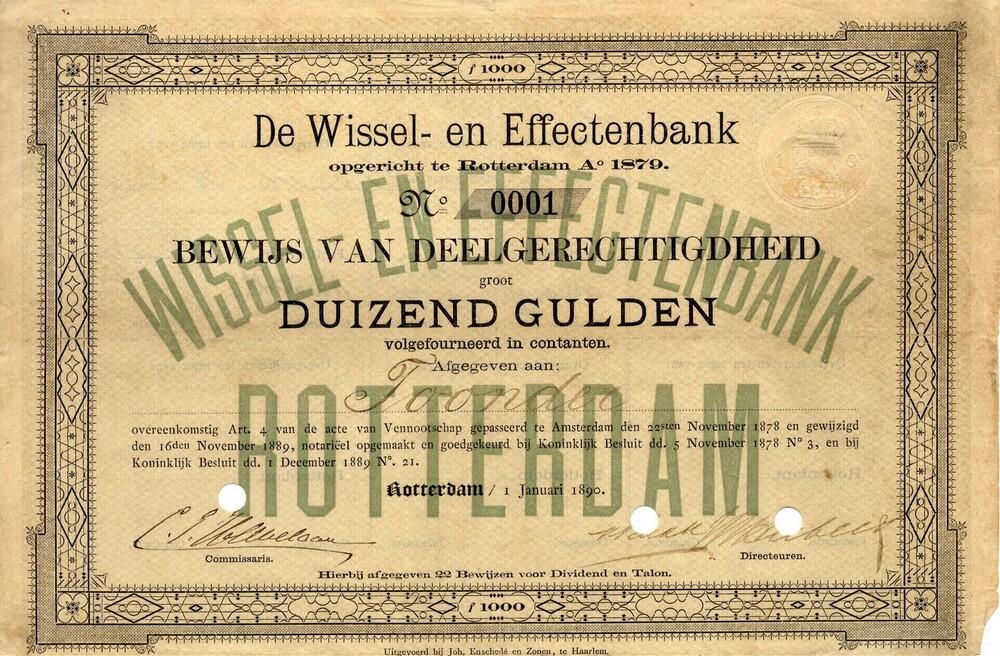De Wissel- en Effectenbank te Rotterdam