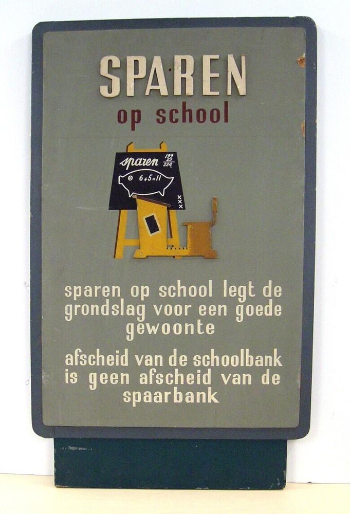 Sparen op school - bord