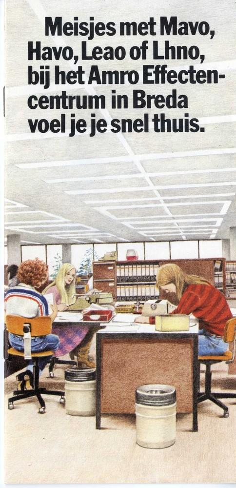 Meisjes met mavo, havo, leao of lhno, bij het Amro effectencentrum in Breda voel je je snel thuis