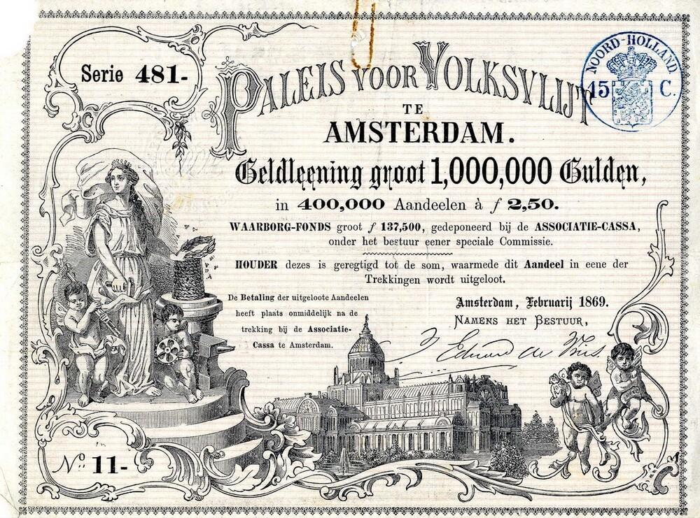 Paleis voor Volksvlijt te Amsterdam