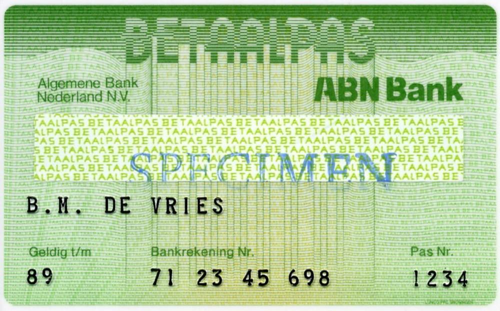 Betaalpas Algemene Bank Nederland
