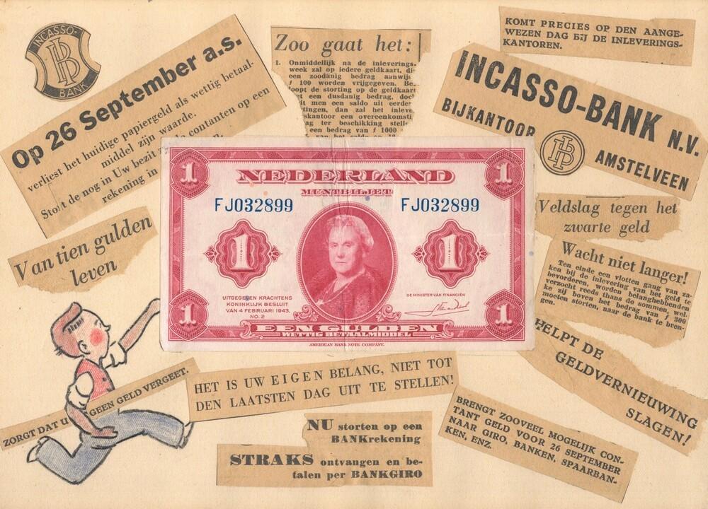 Collage inzake de geldsanering