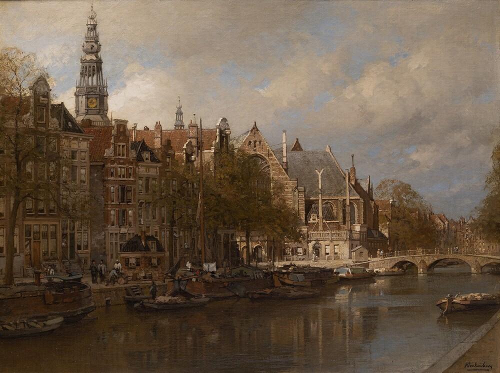Stadsgezicht Amsterdam met Oudezijds Voorburgwal