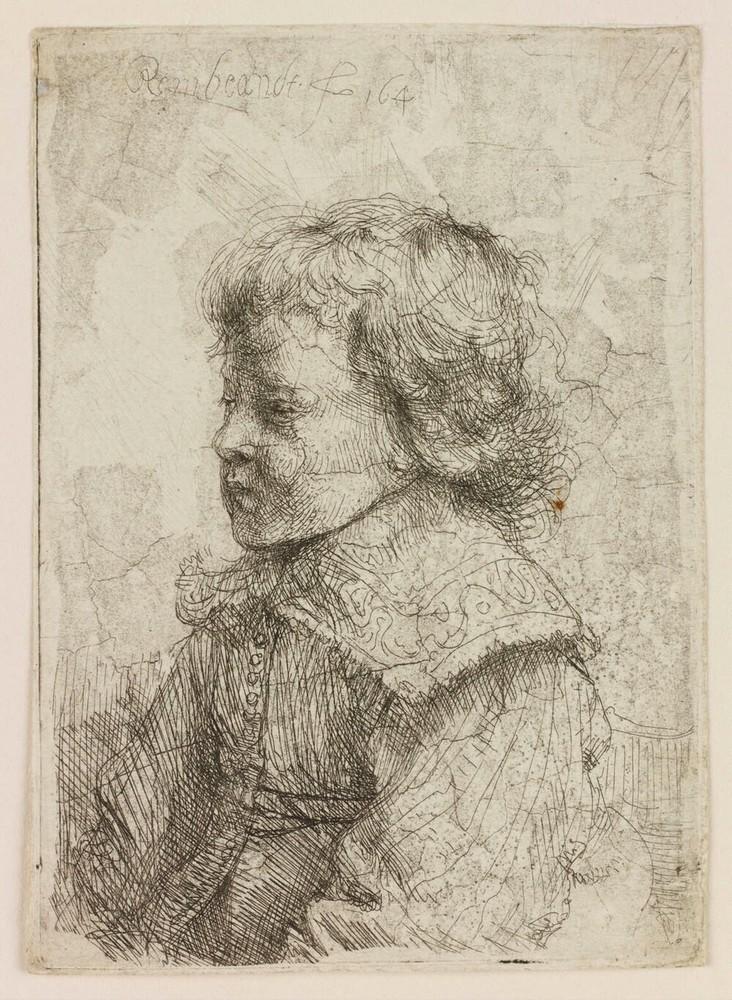 Portret van een jongen, en profiel