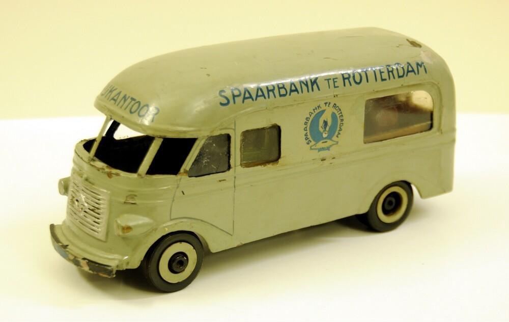 Miniatuur rijdend bijkantoor van de Spaarbank te Rotterdam