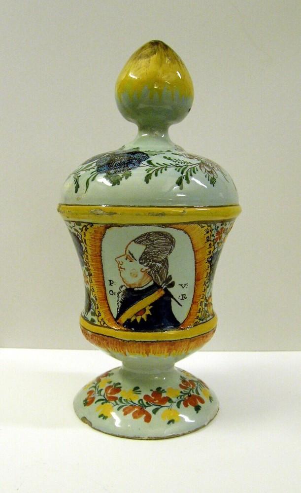 Spaarpot met afbeelding van Willem V